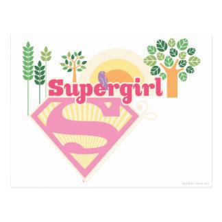 Supergirl Nature Logo Postcard