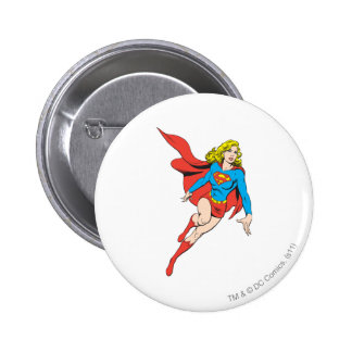 Supergirl on the Move 6 Cm Round Badge