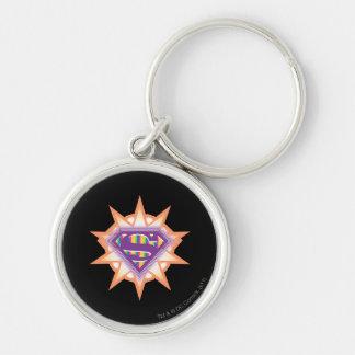 Supergirl Orange Starburst Key Ring