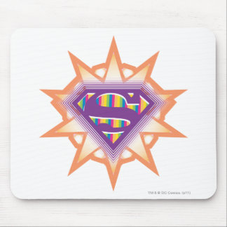 Supergirl Orange Starburst Mouse Mat