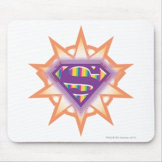 Supergirl Orange Starburst Mouse Mat