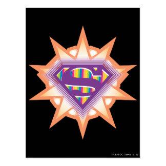 Supergirl Orange Starburst Postcard
