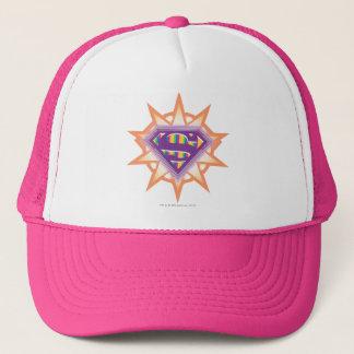 Supergirl Orange Starburst Trucker Hat