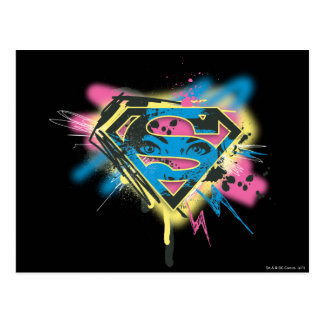 Supergirl Paint and Spills Postcard