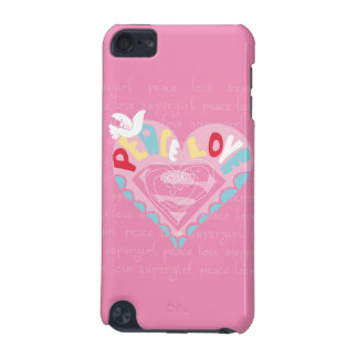 Supergirl Peace and Love Pink iPod Touch 5G Cases