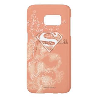 Supergirl Peach Floral Pattern