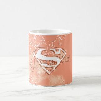 Supergirl Peach Floral Pattern Coffee Mug