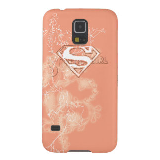 Supergirl Peach Floral Pattern Galaxy S5 Cases