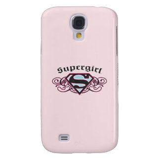 Supergirl Pin Strips Black and Pink Galaxy S4 Case