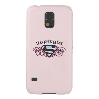 Supergirl Pin Strips Black and Pink Galaxy S5 Covers