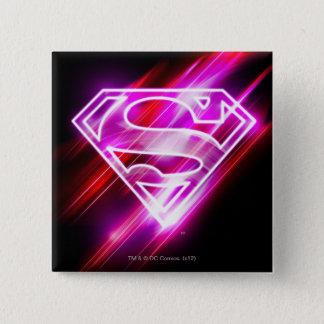 Supergirl Pink 15 Cm Square Badge
