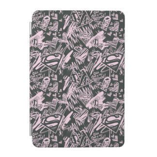 Supergirl Pink and Black Scribbles iPad Mini Cover