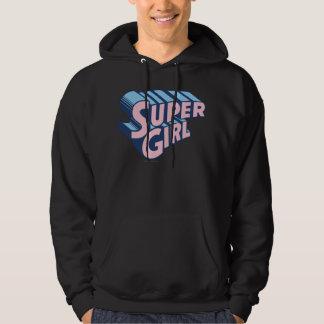 Supergirl Pink and Blue Logo Hoodie