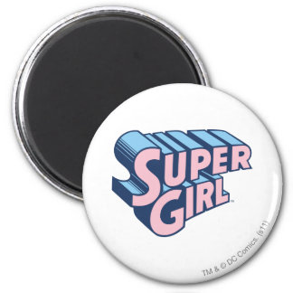 Supergirl Pink and Blue Logo Magnet