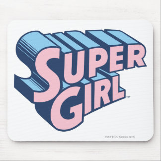 Supergirl Pink and Blue Logo Mouse Mat