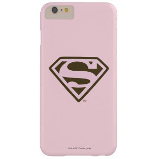 Supergirl Pink and Brown Logo Barely There iPhone 6 Plus Case