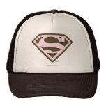 Supergirl Pink and Brown Logo Cap