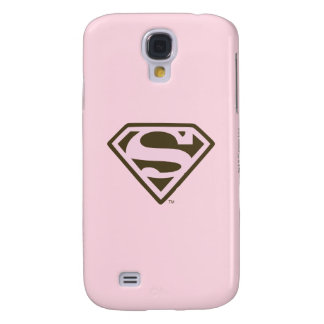 Supergirl Pink and Brown Logo Galaxy S4 Case