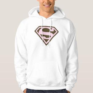 Supergirl Pink and Brown Logo Hoodie