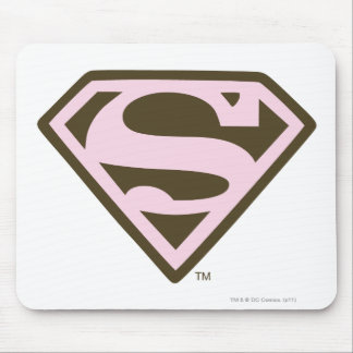 Supergirl Pink and Brown Logo Mouse Mat