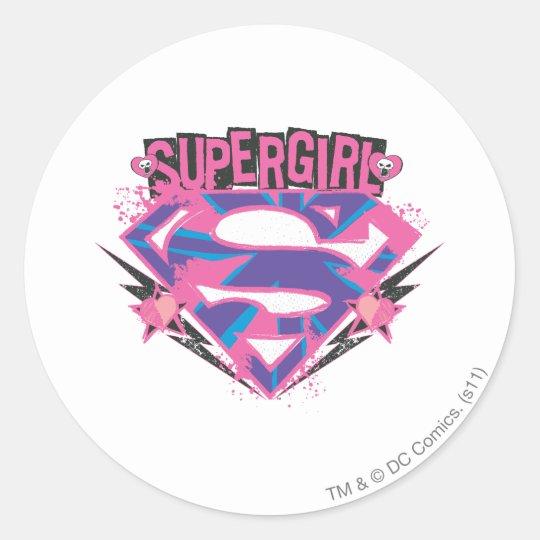 """50 Supergirl Stickers Labels Super Girl Envelope Seals 1/"""" x 1.5/"""""""