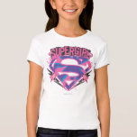 Supergirl Pink and Purple Grunge Logo Shirts