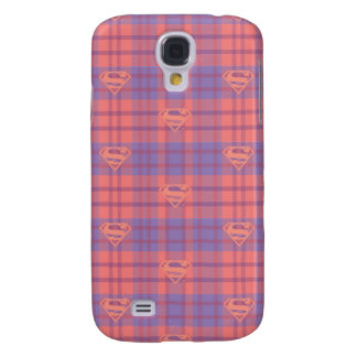Supergirl Pink and Purple Pattern Galaxy S4 Case