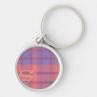 Supergirl Pink and Purple Pattern Key Ring