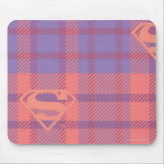 Supergirl Pink and Purple Pattern Mouse Mat