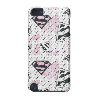 Supergirl Pink and White Logo Pattern iPod Touch (5th Generation) Cases
