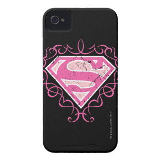 Supergirl Pink Colorful Logo Case-Mate iPhone 4 Cases
