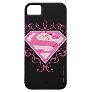 Supergirl Pink Colorful Logo iPhone 5 Cases
