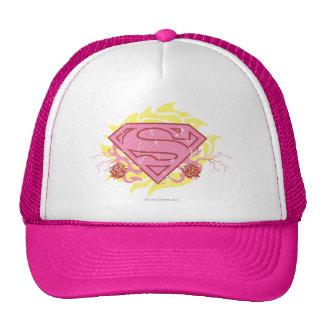 Supergirl Pink Flowers Cap