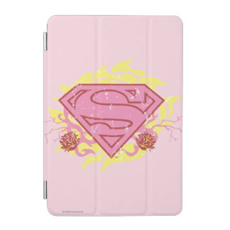 Supergirl Pink Flowers iPad Mini Cover