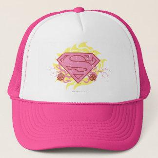 Supergirl Pink Flowers Trucker Hat