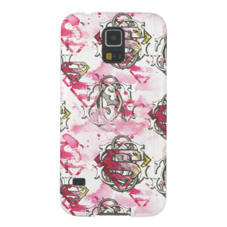Supergirl Pink Ink Pattern Cases For Galaxy S5