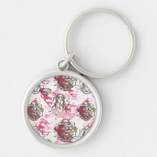 Supergirl Pink Ink Pattern Key Ring
