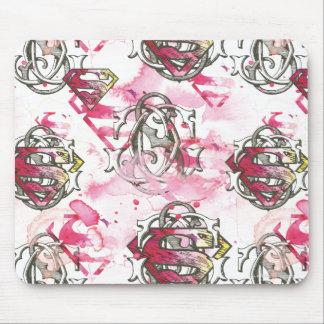 Supergirl Pink Ink Pattern Mouse Mat