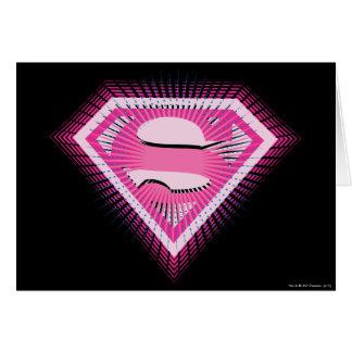 Supergirl Pink Logo Card