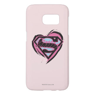 Supergirl Pink Logo in Heart