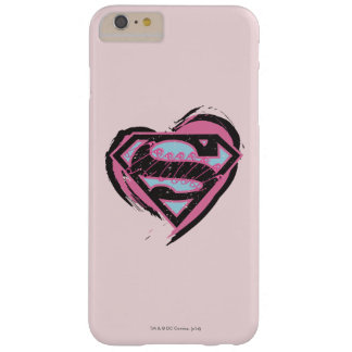 Supergirl Pink Logo in Heart Barely There iPhone 6 Plus Case