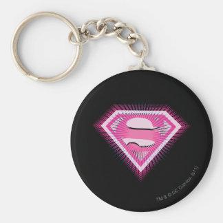Supergirl Pink Logo Key Ring