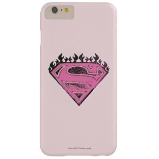 Supergirl Pink Logo with Flames Barely There iPhone 6 Plus Case