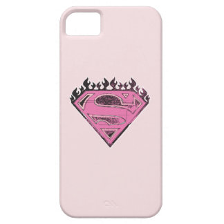 Supergirl Pink Logo with Flames iPhone 5 Cases