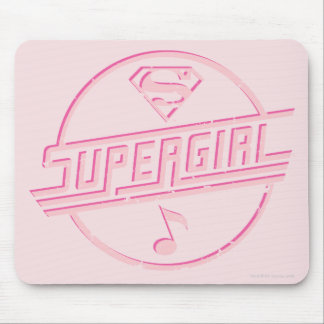 Supergirl Pink Music Note Mouse Mat