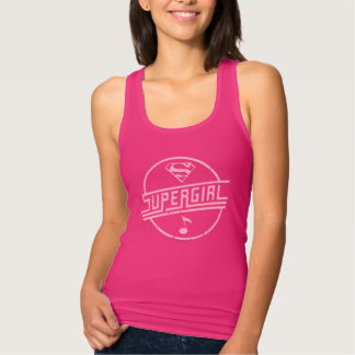 Supergirl Pink Music Note Tank Top