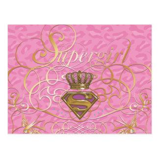 Supergirl Pink Postcard