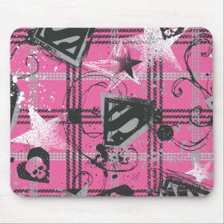 Supergirl Pink Splatter Square Mouse Mat