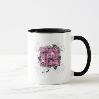 Supergirl Pink Splatter Square Mug