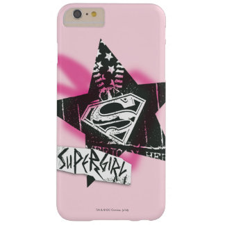 Supergirl Pink Spray Paint Star Barely There iPhone 6 Plus Case